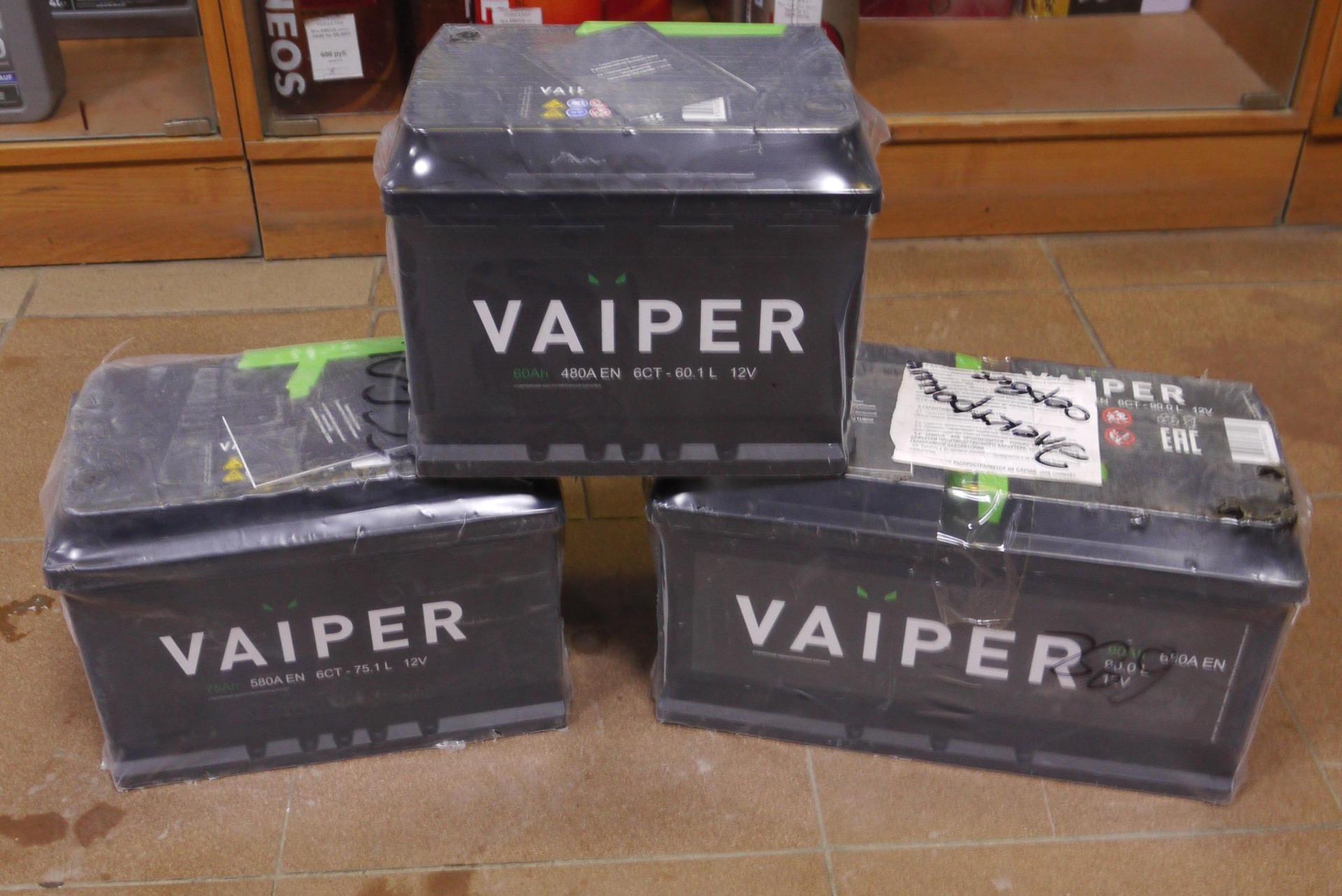 Фото аккумуляторов VIPER
